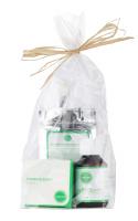 Ecocera - ZESTAW PREZENTOWY NR 7 - Maska przeciwzmarszczkowa (50 g) + Pędzel + Koncentrat z miedzią i srebrem koloidalnym + Sypki puder ryżowy