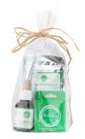 Ecocera - ZESTAW PREZENTOWY NR 4 - Maska dla cery dojrzałej (100 g) + Pędzel + Koncentrat z miedzią i srebrem koloidalnym + Prasowany puder ryżowy