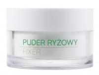 Ecocera - ZESTAW REZENTOWY NR 5 - Maska przeciwtrądzikowa (50 g) + Pędzel + Koncentrat z miedzią i srebrem koloidalnym + Sypki puder ryżowy