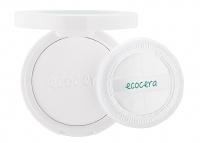 Ecocera - ZESTAW PREZENTOWY NR 2 - Maska z węglem aktywnym (100 g) + Pędzel + Koncentrat z miedzią i srebrem koloidalnym + Prasowany puder ryżowy