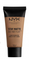 NYX Professional Makeup - STAY MATTE BUT NOT FLAT LIQUID FOUNDATION - Podkład matujący - SMF12 - TAWNY - SMF12 - TAWNY