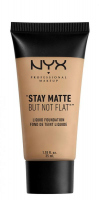 NYX Professional Makeup - STAY MATTE BUT NOT FLAT LIQUID FOUNDATION - Podkład matujący - SMF02 - NUDE - SMF02 - NUDE