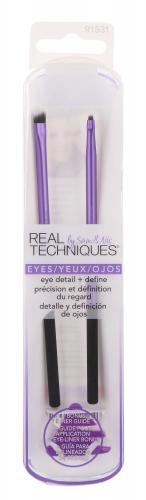 Real Techniques - EYE DETAIL + DEFINE - Zestaw dwóch pędzli do makijażu oczu