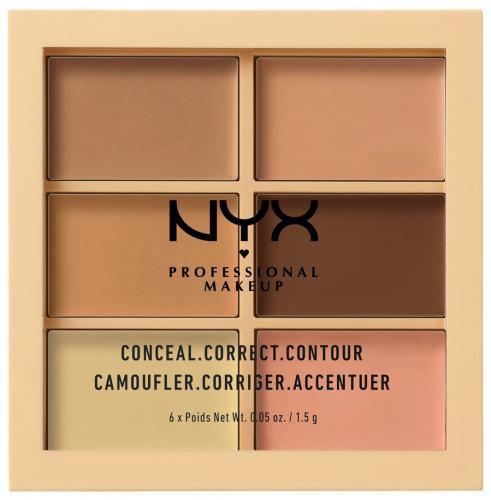NYX Professional Makeup - CONCEAL, CORRECT CONTOUR PALETTE - Paleta korektorów do twarzy