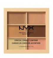 NYX Professional Makeup - CONCEAL, CORRECT CONTOUR PALETTE - Paleta korektorów do twarzy - 01 - LIGHT - 01 - LIGHT