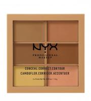 NYX Professional Makeup - CONCEAL, CORRECT CONTOUR PALETTE - Paleta korektorów do twarzy - 02 - MEDIUM - 02 - MEDIUM