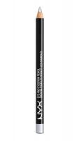 NYX Professional Makeup - EYE AND EYEBROW PENCIL - Wielozadaniowa kredka do oczu - 905 - Silver - 905 - Silver