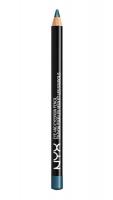 NYX Professional Makeup - EYE AND EYEBROW PENCIL - Wielozadaniowa kredka do oczu - 910 - Satin Blue - 910 - Satin Blue