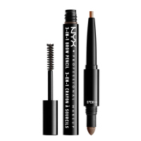 NYX Professional Makeup - SOURCILS 3IN1 BROW - Produkt 3w1 do makijażu brwi - 31BO3 - SOFT BROWN - 31BO3 - SOFT BROWN