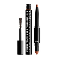 NYX Professional Makeup - SOURCILS 3IN1 BROW - Produkt 3w1 do makijażu brwi - 31BO5 - AUBURN - 31BO5 - AUBURN