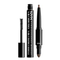 NYX Professional Makeup - SOURCILS 3IN1 BROW - Produkt 3w1 do makijażu brwi - 31BO8 - ASH BROWN - 31BO8 - ASH BROWN