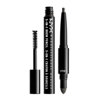 NYX Professional Makeup - SOURCILS 3IN1 BROW - Produkt 3w1 do makijażu brwi - 31BO10 - BLACK - 31BO10 - BLACK