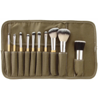 LancrOne - SUNSHADE MINERALS - Set of 10 makeup brushes + case - SM101