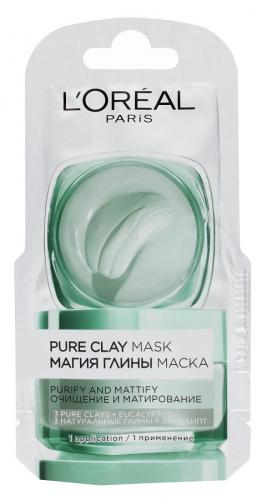 L'Oréal - PURE CLAY MASK - CZYSTA GLINKA - Oczyszczająco-matująca maska w saszetce