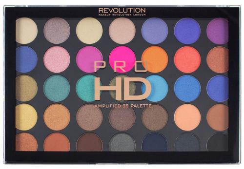 MAKEUP REVOLUTION - PRO HD AMPLIFIED 35 PALETTE - DEFIANT - Paleta 35 cieni do powiek