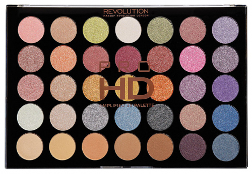MAKEUP REVOLUTION - PRO HD AMPLIFIED 35 PALETTE - EXHILARATE - Paleta 35 cieni do powiek