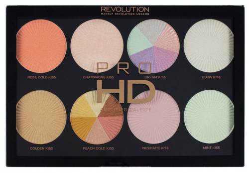MAKEUP REVOLUTION - AMPLIFIED PALETTE - GLOW GETTER - Paleta 8 rozświetlaczy