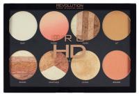 MAKEUP REVOLUTION - PRO HD - AMPLIFIED PALETTE  - BRIGHTER THAN MY FUTURE - Paleta 8 rozświetlaczy