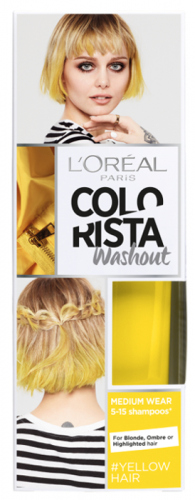 L'Oréal - COLORISTA Washout - #YELLOWHAIR - Zmywalna koloryzacja - ŻÓŁTY