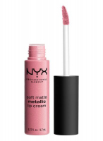 NYX Professional Makeup - SOFT MATTE METALLIC LIP CREAM - Metaliczna, matowa pomadka do ust - C10 - MILAN - C10 - MILAN