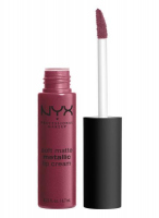 NYX Professional Makeup - SOFT MATTE METALLIC LIP CREAM - Metaliczna, matowa pomadka do ust - C11 - MADRID - C11 - MADRID