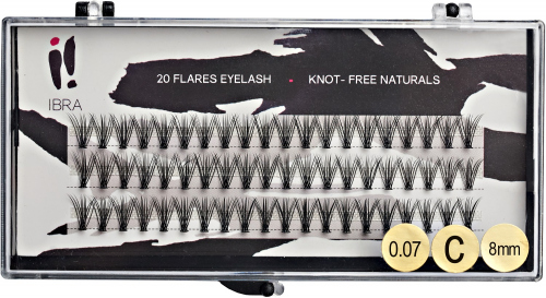 Ibra - DOUBLE FLARES EYELASH - KNOT-FREE - Double volume eyelash tufts