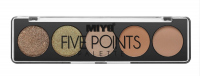 MIYO - FIVE POINTS EYESHADOW PALETTE - Paleta 5 cieni do powiek - 15 - CONSEQUENCES - 15 - CONSEQUENCES