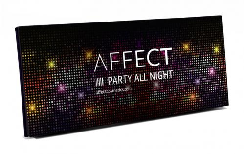 AFFECT - PRESSED EYESHADOWS PALETTE - Paleta 10 cieni prasowanych - PARTY ALL NIGHT