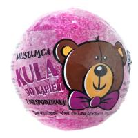 LaQ - Musująca kula do kąpieli z niespodzianką - Różowa