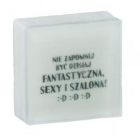LaQ - Happy Soaps - Short Message Soap - Mydełko glicerynowe SMS - NIE ZAPOMNIJ