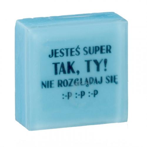 LaQ - Happy Soaps - Short Message Soap - Mydełko glicerynowe SMS - JESTEŚ SUPER