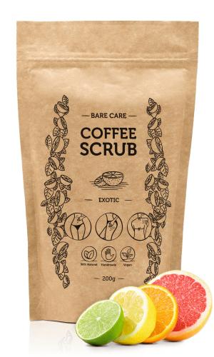 BARE CARE - COFFEE SCRUB - EXOTIC - Peeling kawowy do ciała o zapachu owoców egzotycznych - 200g