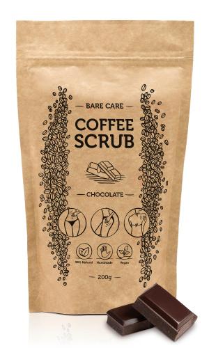 BARE CARE - COFFEE SCRUB - CHOCOLATE - Peeling kawowy do ciała o zapachu czekolady - 200g
