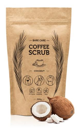 BARE CARE - COFFEE SCRUB - COCONUT - Peeling kawowy do ciała o zapachu kokosu - 200g