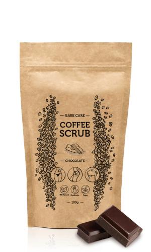 BARE CARE - COFFEE SCRUB - CHOCOLATE - Peeling kawowy do ciała o zapachu czekolady - 100g