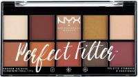 NYX Professional Makeup - Perfect Filter Eye Shadow Palette - Rustic Antique - Paleta 10 cieni do powiek