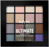 NYX Professional Makeup - ULTIMATE SHADOW PALETTE - COOL NEUTRALS - Paleta 16 cieni do powiek