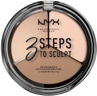 NYX Professional Makeup - 3 STEPS TO SCULPT - FACE SCULPTING PALETTE