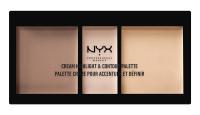 NYX Professional Makeup - CREAM HIGHLIGHT & CONTOUR PALETTE - Kremowa paleta do rozświetlania i konturowania twarzy - LIGHT - LIGHT