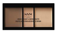 NYX Professional Makeup - CREAM HIGHLIGHT & CONTOUR PALETTE - Kremowa paleta do rozświetlania i konturowania twarzy - MEDIUM - MEDIUM
