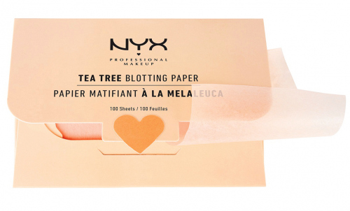 NYX Prefessional Makeup - Tea Tree Blotting Paper - Bibułki matujące - 100 sztuk
