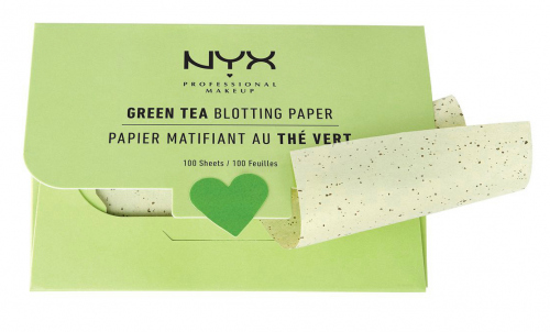NYX Professional Makeup - Green Tea Blotting Paper - Bibułki matujące - 100 sztuk