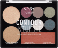 NYX Professional Makeup -  CONTOUR INTUITIVE - EYE AND FACE SCULPTING PALETTE - Wielozadaniowa paleta do makijażu - PLUM METALS