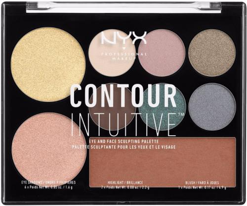 NYX Professional Makeup - CONTOUR INTUITIVE - EYE AND FACE SCULPTING PALETTE - Wielozadaniowa paleta do makijażu - SMOKE & PEARLS