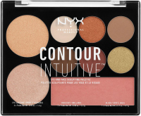 NYX Professional Makeup - CONTOUR INTUITIVE - EYE AND FACE SCULPTING PALETTE - WARM ZONE