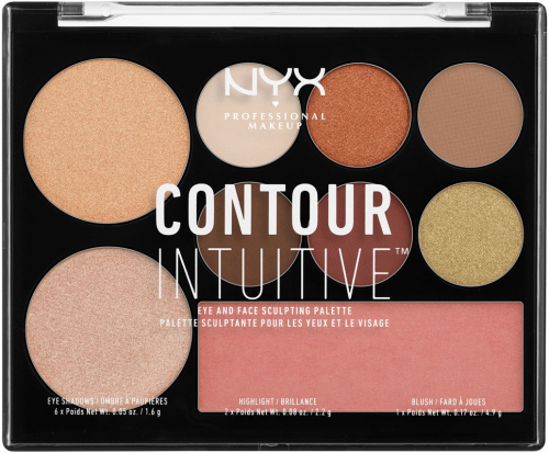NYX Professional Makeup - CONTOUR INTUITIVE - EYE AND FACE SCULPTING PALETTE - Wielozadaniowa paleta do makijażu - WARM ZONE