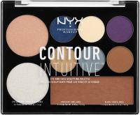 NYX Professional Makeup - CONTOUR INTUITIVE - EYE AND FACE SCULPTING PALETTE - Wielozadaniowa paleta do makijażu - JEWEL QUEEN