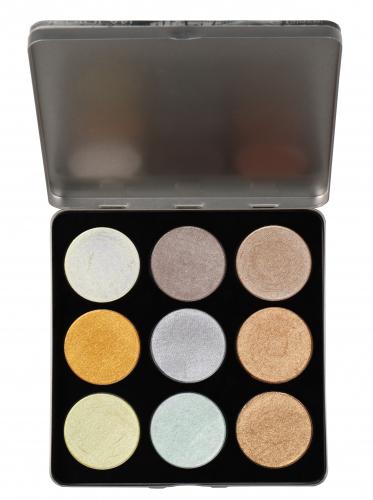 Glazel - CITY SERIES - Platinum Seria City - Paleta 9 cieni do makijażu - MEDIOLAN