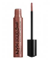 NYX Professional Makeup - LIQUID SUEDE METALLIC MATTE - Metaliczna pomadka do ust - MAUVE MIST - MAUVE MIST