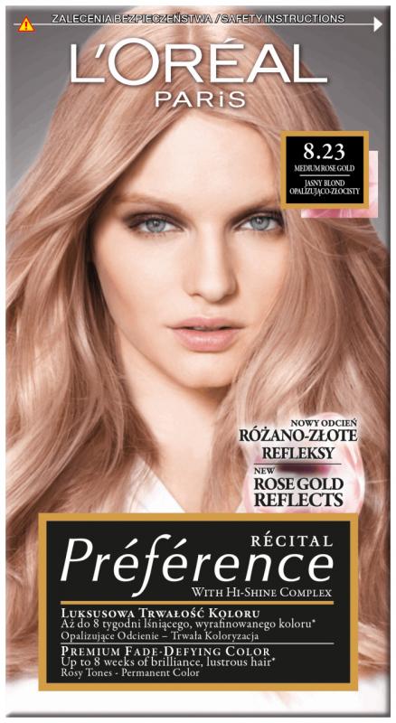 L Oreal Recital Preference 8 23 Medium Rose Gold Permanent